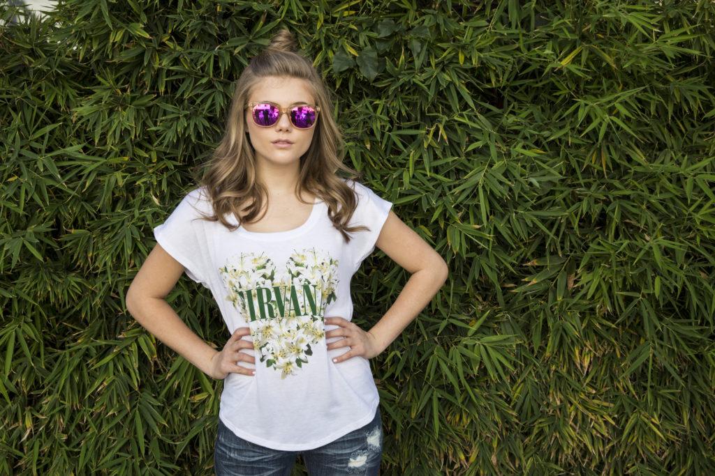 Kerri Medders Popmania with Nirvana Shirt