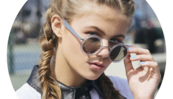 Kerri Medders in the issue of Lvlten Magazine Sporty Braids Sunglasses